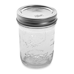 Ball® - Ball Regular Mouth 8-Ounce Canning Jars (Pack of 12) - These clear glass canning jars provide a perfect solution for preserving and storing fruits and vegetables, pickles, tomato-based juices, sauces, and more in individual portions.