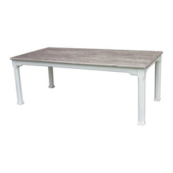 EuroLux Home - New Dining Table Riverwash Painted RW-WHT - Product Details
