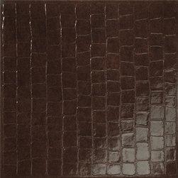 Rex - Rex Matouche Croc Tabac  24x24 - Crocodile Porcelain Tile- Tabac