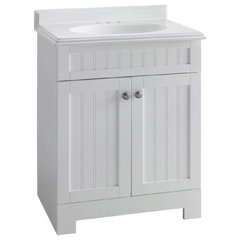 traditional bathroom vanities and sink consoles by Lowe's
