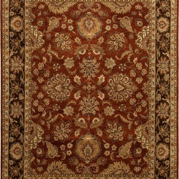 Jaipur Rugs - Hand-Knotted Oriental Pattern Wool Red/ brown Area  Rug, Red/ Brown, 12x15, Bads - Jaipur 's most popular collection, Atlantis, merges traditional patterns with sophisticated and distinctive color stories rooted in blue, brown, ebony, gold, and red. Hand-knotted by master artisans, this stunning range boasts world-class hand-spun wool and an exceptional weave. Atlantis melds the classic beauty of hand-knotting with the palettes coveted by today's new traditionalist.