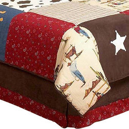 Sweet Jojo Designs - Wild West Bed Skirt Queen - The Wild West Skirt by Sweet Jojo Designs helps complete the look of your child's room. This skirt, or dust ruffle, adds the finishing touch while conveniently hiding under-the-bed storage. This bed skirt is available in a Toddler and Queen size.
