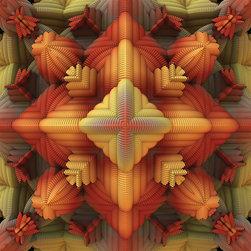 My Wonderful Walls - Geometric Wall Decal Sticker Art - Fall Approaches by Lyle Hatch, Large - - Product:  geometric artwork wall decal sticker in fall colors