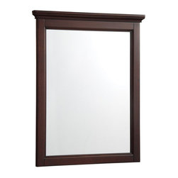 Hayneedle - Foremost AYTM2228 Amelyn Bathroom Mirror - Tobacco - AYTM2228 - Shop for Bathroom Mirrors from Hayneedle.com! It s amazing how an elegant mirror like the Foremost AYTM2228 Amelyn Bathroom Mirror - Tobacco can enhance (and enchant) your entire bathroom decor. Non-beveled flat-edged glass is surrounded by a frame crafted of engineered wood solids and hardwood veneers.And this isn t any old frame - the crown molding along the top creates presence with panache and it s finished in a rich tobacco tone that looks great whether your bathroom wall is traditional white or the latest bold hue. Convenient mounting hooks come pre-attached too. Designed to coordinate with the Amelyn bathroom ensemble but a fashionable fit for any room -- bedroom hallway powder room and more.About Foremost Groups Inc.Established in 1988 based on simple strategies and principles Foremost remains dedicated to their mission of providing fashionable innovative designs and knowledgeable friendly customer service to their customers on a daily basis. Throughout the years Foremost has developed offices and distribution centers in the U.S. and Canada with four separate product divisions consisting of bathroom furniture indoor and outdoor furniture and even food service equipment. All of their products are proudly constructed with world class engineering and the best designs at an affordable price.