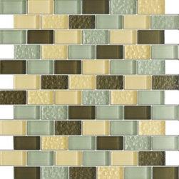 Vintrav Coffee Vanilla 1 in. x 2 in. Glass Mosaic Tiles, Sample - Vintrav Coffee Vanilla 1 in. x 2 in. Glass Mosaic Tiles for Bathroom Floor, Kitchen Backsplash, unmatched quality, expert.