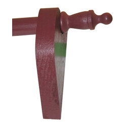 """Renovators Supply - Curtain Rods Raleigh Red Pine Curtain Rod Set 36"""" Urn finials - Curtain Rod Set. Raleigh Red Pine Curtain Rod SET. Includes a 36 inch long rod, pair of brackets and pair of finials. Rods can be cut shorter to with a hacksaw. Rod is 3/4 inch in diameter and 36 inches long."""