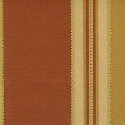 Stripe - Paprika Upholstery Fabric - Item #1009552-537.