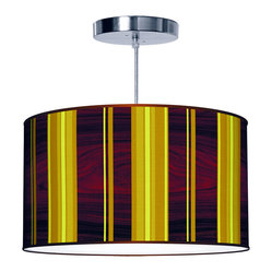 Vertical Stripey 2 Pendant Lamp - 30x12