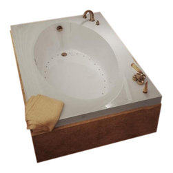 Spa World Corp - Atlantis Tubs 4272V Vogue 42x72x23 Inch Rectangular Soaking Bathtub - The Vogues chic design offers a fashionable yet traditional tub that comes in several sizes. The Vogue is oval on the interior and encompassed by a wide rectangular shape which provides more space for your favorite bathing fragrances and accessories. On one end, the tub rises up and back for added comfort when laying back, The Vogue will be the interior design centerpiece of your home.