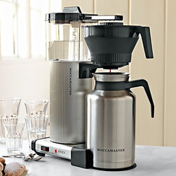 Technivorm Grand Coffeemaker with Thermal Carafe - An office isn't an office without the coffee. This sleek Technivorm coffeemaker from Williams-Sonoma keeps the coffee warm and stylish.