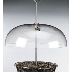 Aspects - Vista-Dome - The Vista Dome is Aspects' all purpose feeder. Fill it with seed, fruit, mealworms, nuts, pet food or even small chunks of cheese. An 8-1/2 tray has a capacity of 1-1/4 quarts and is protected from the elements by an impressive 12-inch dome. Stainless ste