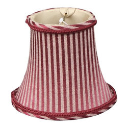 """""""Royal Designs, Inc"""" - 6"""" Burgundy/Antique Gold Striped Chandelier Lampshade - """"This 6"""" Burgundy/Antique Gold Striped Chandelier Lampshade is a part of Royal Designs, Inc. Timeless Chandelier Shade Collection and is perfect for anyone who is looking for a simple yet stunning lampshade. Royal Designs has been in the lampshade business since 1993 with their multiple shade lines that exemplify handcrafted quality and value."""