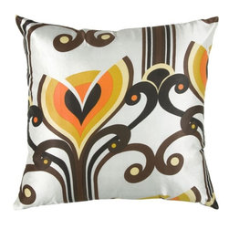 Rizzy Home - White and Brown Decorative Accent Pillows (Set of 2) - T03385 - Set of 2 Pillows.