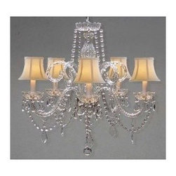 Gallery - Gallery T40-141 5 Light 1 Tier Crystal Chandelier - Features: