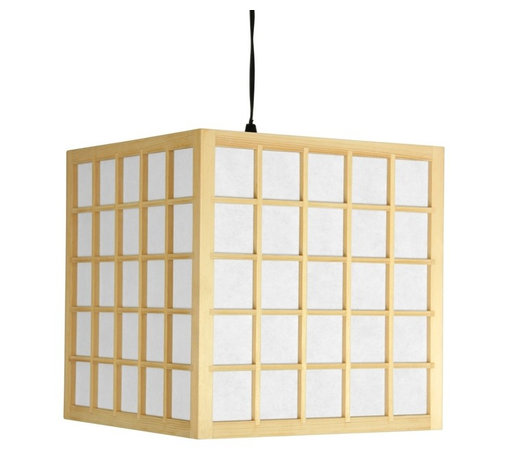 Oriental Unlimited - Japanese Window Pane Hanging Lantern - Light bulb not included. Classic window pane design Japanese style hanging lantern. Provides, soft and warm light. Durable washi paper lamp shade reinforced. Wired for type A medium base 40W light bulb. UL approved wiring, socket, power cord and switch. Light switch built into the power cord. Plugs directly into an electrical socket. Attach to a hook in the ceiling. No electrician required. Minimal assembly required. 11.75 in. W x 11.75 in. D x 12 in. H (1.5 lbs.). Power cord: 65 in. L