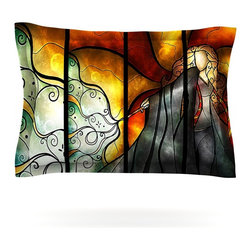 """Kess InHouse - Mandie Manzano """"Expecto Patronum"""" Harry Potter Pillow Sham (Woven, 40"""" x 20"""") - Pairing your already chic duvet cover with playful pillow shams is the perfect way to tie your bedroom together. There are endless possibilities to feed your artistic palette with these imaginative pillow shams. It will looks so elegant you won't want ruin the masterpiece you have created when you go to bed. Not only are these pillow shams nice to look at they are also made from a high quality cotton blend. They are so soft that they will elevate your sleep up to level that is beyond Cloud 9. We always print our goods with the highest quality printing process in order to maintain the integrity of the art that you are adeptly displaying. This means that you won't have to worry about your art fading or your sham loosing it's freshness."""
