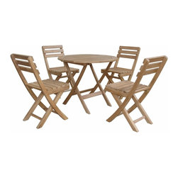 Anderson Outdoor Furniture - Chester Alabama Bistro Set B - Who says you can't control the weather? A cloudy day is never a reason to call off the picnic when you have this convenient indoor/outdoor folding dining set. Just toss them in the back of your car, and you're free to go chasing the sun.