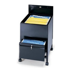 Locking Mobile Tub Filing Cabinet with Drawer-Letter Size -