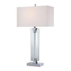Kovacs - Kovacs P1608-077 1 Light Table Lamp in Chrome Portables Collection - Single Light Table Lamp in Chrome from the Portables CollectionFeatures: