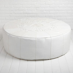 Moroccan Leather Ottoman - This Moroccan-style leather ottoman from Rachel Ashwell has me completely gobsmacked. If I were furnishing my dream home (with an unlimited budget!), this would be at the very top of my list.