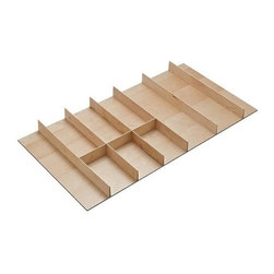 Hafele - Fineline 36 in. Wood Cutlery Insert Tray - Drawer inserts can be field cut to size.