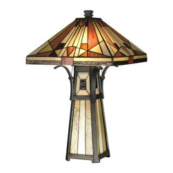 Dale Tiffany - Dale Tiffany Mission Table Lamp Art Glass - Product Details