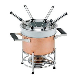 Copper Fondue Fountain - Stainless steel is popular in cookware for many reasons, not least of which are its sharp looks and durability.
