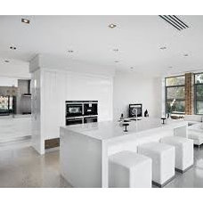 white modern kitchen interior - Google leit