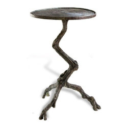 Interlude - Steamboat Branch Side Table - The Steamboat Branch Side Table is an organic iron table with a verdigris finish.
