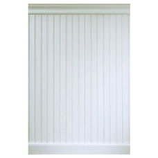 House of Fara 8 Linear ft. MDF Overlapping Wainscot Paneling Kit-32MDFKIT at The
