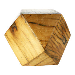 Tetradecahedron Wood Stool - We love the unique sculptural quality of the Tetradecahedron Wood Stool. Place a stack of books or a vase of flowers on its smooth surface, or use it as an extra chair or footstool when entertaining or relaxing.