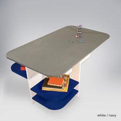 ducduc sam playtable - Cool gray chalkboard top.