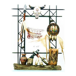 """PS - 10 Inch Native American Spear Skull Dream catcher 4 x 6"""" Photo Frame - This gorgeous 10 Inch Native American Spear Skull Dream catcher 4 x 6"""" Photo Frame has the finest details and highest quality you will find anywhere! 10 Inch Native American Spear Skull Dream catcher 4 x 6"""" Photo Frame is truly remarkable."""