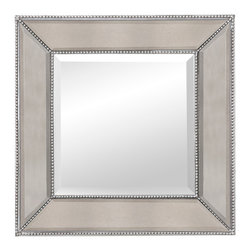 Bassett Mirror - Bassett Mirror Beaded Wall Mirror M3592BEC - Bassett Mirror Beaded Wall Mirror M3592BEC