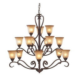 Cornerstone - Cornerstone Lawrenceville 1815CH/12 12 Light Chandelier in Mocha - 1815CH/12 12 Light Chandelier in Mocha belongs to Lawrenceville Collection by Cornerstone Chandelier (1)