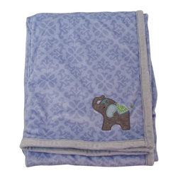 Nurture - Nurture Jubilee Blue Plush Blanket with Elephant Applique - 107330 - Shop for Blankets from Hayneedle.com! Elephants never forget and you'll always remember the times you wrapped up your little guy in the Nurture Jubilee Blue Plush Blanket with Elephant Applique. This super-soft plush blanket features a tonal blue geometric print and an appliqued elephant raising his trunk in celebration. The blanket measures 30 x 40 in. and is made using 100% polyester that's machine-washable.About Nurture Imagination: Based in California Nurture Imagination creates collaborative relationships with artists designer and product innovators to bring a diverse mix of imaginative products to parents and children. This thoughtfully chosen array of products and features can be seen in their many nursery collections or just in the way they approach the needs of children and the parents who never get tired of caring for them.