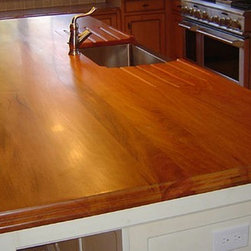 Mahogany Kitchen Island with Sink -