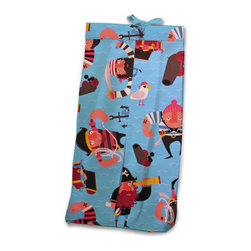 Pirate Pals Diaper Stacker - A perfect shower gift, as every mommy needs this! Our Pirate Pals Diaper Stacker is made with designer print with adorable playful pirates. Made of 100% cotton.