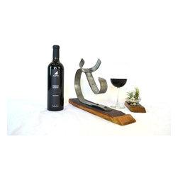 Wine Barrel Bottle Holder -