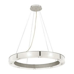 Oracle Aluminum with Frosted Pendant Chandelier -