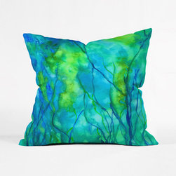 Underwater Landscape Pillow Cover - In the great deep blue, kelp and salt water mix to form a stunning landscape. Get a peek at it everyday with this vibrant pillow cover.