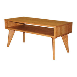 TY Fine Furniture - Modern Coffee Table - Our Mid-20th Century Modern Collection is a stylish rendition of beloved nostalgic design and comfort. Handcrafted to perfection using our proprietary construction methods, these inimitable pieces also offer the gift of quality heirloom collecting for generations to love and enjoy. Our sturdy construction belies the elegant balance of these collection pieces: platform beds, side tables and coffee table. Every piece is meticulously and sumptuously finished with our signature finishes formulated from non-toxic, all-natural ingredients with zero-VOC emissions.