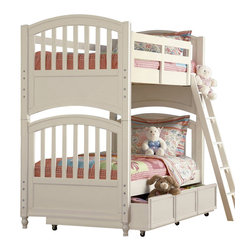 Pulaski - Pawsitively Yours Wood Bunk Bed - Note: ivgstores does not offer assembly on loft beds or bunk beds