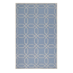 Surya - Mezzo Light Gray and Slate Area Rug - A delicate colorful geometric pattern elegantly adorns this hand-hooked wool rug. Mezzo comes with polyester construction with cotton backing, and is finished in light gray and slate.