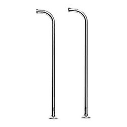 """Newport Brass - Newport Brass 3-192 Fairfield Set of 2 Shut-Off Valves with Cross Handles - Product Features:   Set of 2 shut-off valves for use with exposed tub filler faucets/tub risers  Covered under Newport Brass's 10 year limited warranty (covers functionality and finish; does not apply to """"living"""" finishes 03N and 08W)  Constructed of brass, ensuring durability and dependability  Newport Brass uses an industry-leading lacquer finish process to produce finishes that are durable, color-protected, and scratch resistant for years to come  Coordinates seamlessly with the Fairfield Collection  Valves feature cross handles with white hot/cold indicators  Connection Size: 3/4""""  Projection (Depth): 2-3/4""""  Height: 5-1/4""""  Secure mounting assembly  All hardware required for installation is included  About Newport Brass:  Since 1989, Newport Brass has developed, designed and delivered classically constructed, versatile suites of timeless kitchen, bath, and shower products for the discerning customer. With 20 years of commitment to well-engineered, solid brass designs and an undisputed reputation for performance and durability, Newport Brass continues to handcraft the finest fixtures with strict testing and quality assurance measures."""