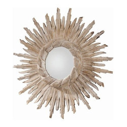 Arteriors Home - Versailles Hand Carved Solid Wood Starburst Mirror - DR2026 - Versailles Collection Mirror