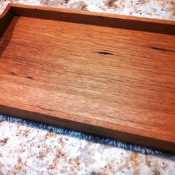 "Reclaimed White Oak / Serving Tray - This handmade serving tray was made from reclaimed white oak barn boards. 11 1/2"" x 18 1/2"" x 2"" / $50 + Shipping"