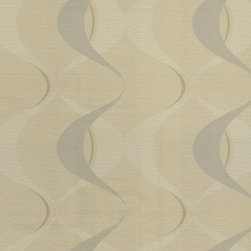 Wallpaper Worldwide - Illinois - Geo Wave Wallpaper, Cream, Beige - Material: Paper Backed. PVC.