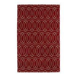 Kaleen - Kaleen Revolution REV02 25 Red Rug - 2 ft 3 in x 8 ft Runner - Kaleen Revolution REV02 25 Red Area Rug - The color Revolution is here! Trendy patterns with a fashion forward twist of the hottest color combinations in a rug collection today. Transform a room with the complete color makeover you were hoping for and leaving your friends jealous at the same time! Each rug is hand-tufted and hand-carved for added texture in India, with a 100% soft luxurious wool.