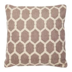 Eichholtz Oroa - Pillow Cirrus, Beige - 100% cotton backing - 100% wool embroidery
